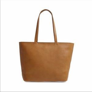 Madewell Abroad Leather Tote Bag